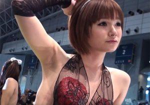 コンパニオンの魅力的なワキの下を合法的に見れるなんて最高 TOKYO AUTO SALON 2010(東京オートサロン)