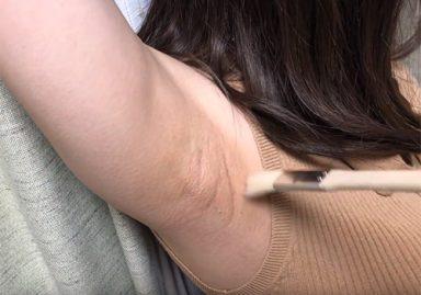 巨乳素人娘のワキの下を筆でひたすらくすぐる問題作