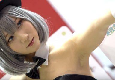 きちんと意識して腋の下を見せ続けてくれる女神のようなコスプレイヤー アニメジャパン2019
