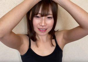 冬場でもきっちりと処理した腋の下を4K画質で撮影されてしまった30代のロリ顔素人女性