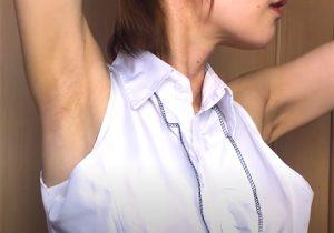 完全素人女子の腋の下を愛でる動画 34歳主婦編