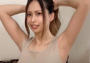 25歳のモデルさんの素敵すぎる腋の下をずっと眺められる
