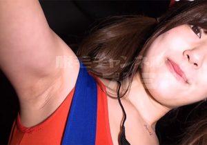 ハロウィンではしゃいでたコスプレ娘のワキの下を撮らせていただきました