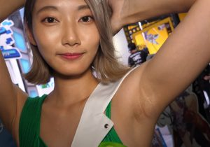 剃り残しの目立つジョリワキを撮られてしまったキャンギャル 東京ゲームショウ2018