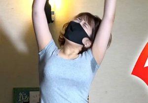 美人youtuberがワキ汗でグレーのTシャツに汗じみを作りながらリングフィットしまくる