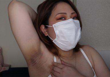 素人妊婦が衝撃の黒ずみワキをYouTubeで配信してしまう