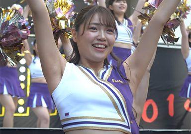 上智大学の激カワチアが元気なダンスでしっかり脇の下丸出し