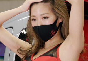 マスクをしててもかわいいキャンギャルのワキの下をしっかり楽しませていただく 名古屋オートトレンド2021