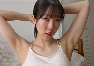 【自撮りワキ見せ】美人マッサージ師のワキ見せ自撮り髪結い動画が神すぎる