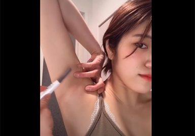 TikTokでワキ毛の剃り方をレクチャーしてしまう素人女子